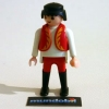 Circus lion tamer, short red vest